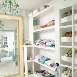 12 Captivating Closets to Covet via Houzz. And I would like that mirror too please!: Closet Spaces, Big Mirror, Idea, Dreams Closet, Floors Mirror, Interiors Design, Dresses Rooms, Design Home, Walks In