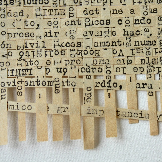 Weaving Text- this would be pretty to frame