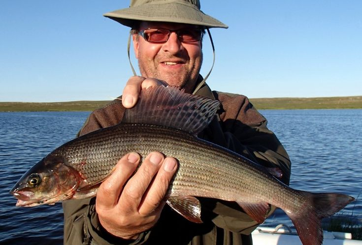 A satisfied fisherman in Pello in Lapland