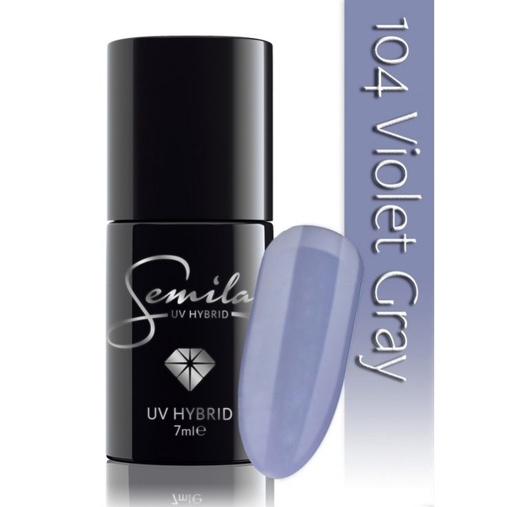 Ημιμόνιμο μανό Semilac - 104 Violet Grey 7ml - Semilac | Προϊόντα Μανικιούρ - Πεντικιούρ Semilac & Ημιμόνιμα.