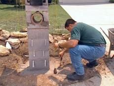 How to Lay Blocks for a Stone Column Mailbox | how-tos | DIY