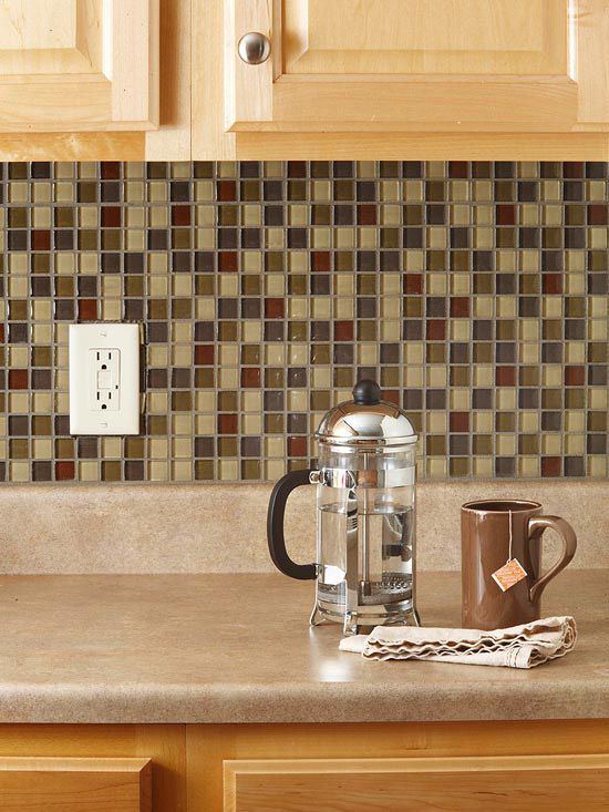 How to Tile Your Backsplash  Give your kitchen a new look in just one weekend with a do-it-yourself tile backsplash. It's easy with our free printable guide and simple-to-install mosaic tile sheets.