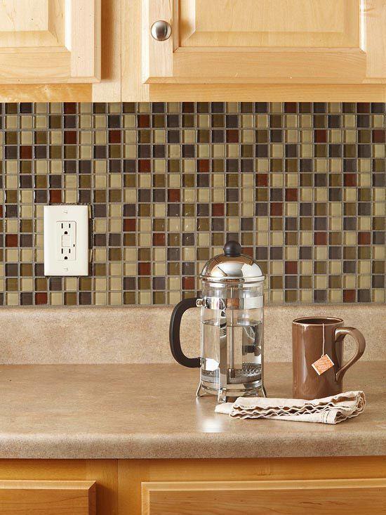 How to tile a backsplashWeekend Projects, Back Splashes, Decor Ideas, Glasses Tile, Kitchen Backsplash, Diy Tile, Kitchens Backsplash, Tile Backsplash, Mosaics Tile