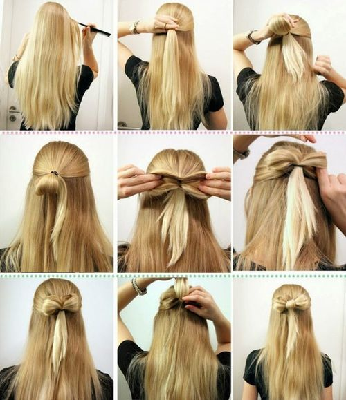 DIY Simple Bow Hairstyle / UsefulDIY.com