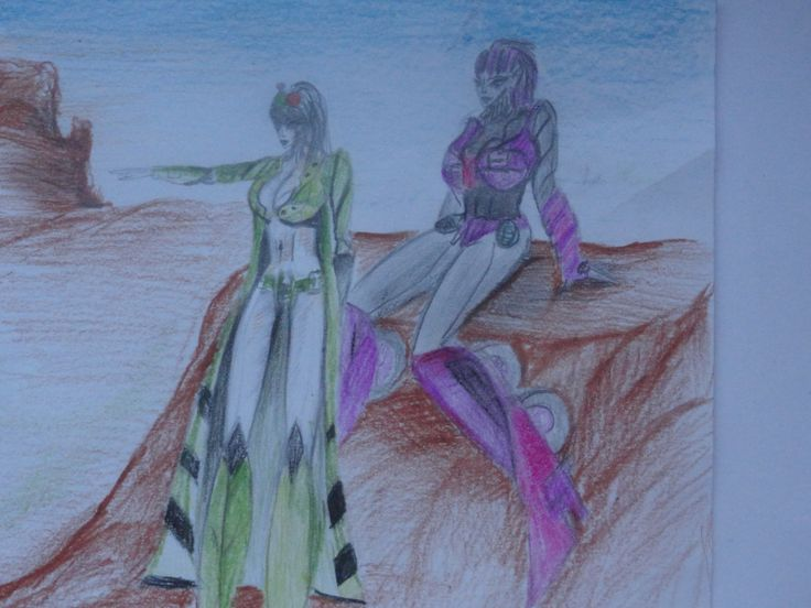drawing made by me ! . In the picture are Dominiq and Ivy