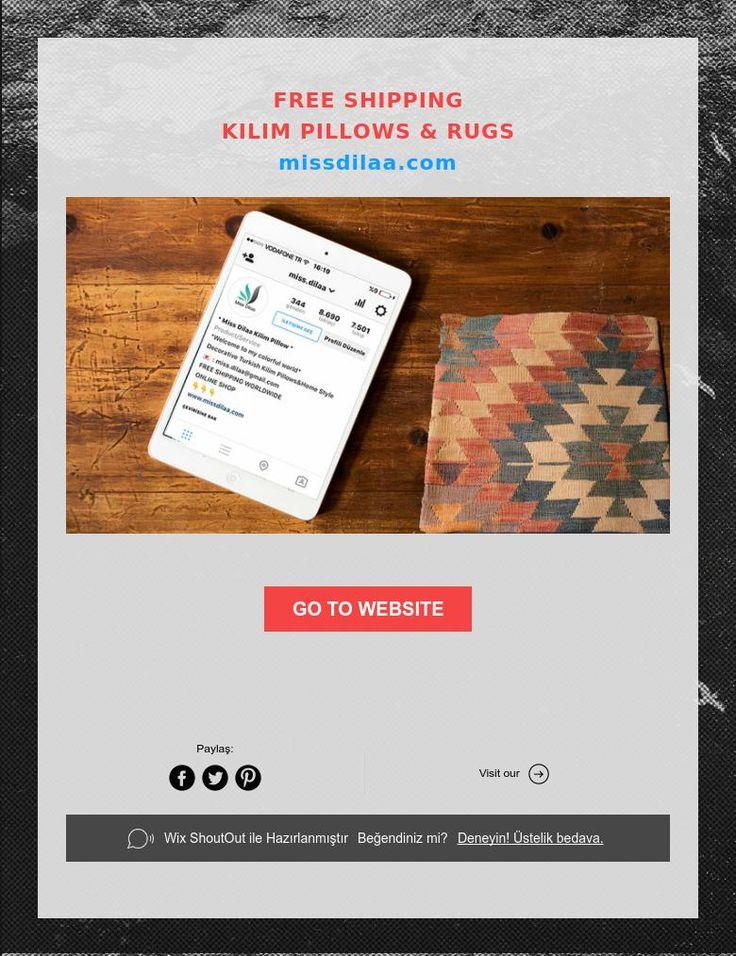 FREE SHIPPING  KILIM PILLOWS & RUGS  missdilaa.com