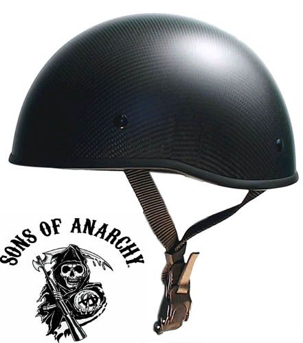 These Sons of Anarchy inspired beanie motorcycle helmets have an awesome style that bring out the flavor of the iconic SOA show with DOT approved safety.