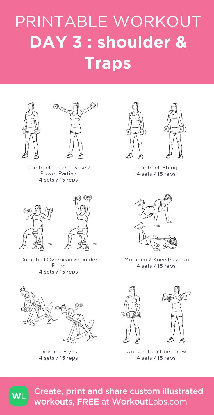 DAY 3 : shoulder & Traps:my visual workout created at WorkoutLabs.com • Click through to customize and download as a FREE PDF! #customworkout