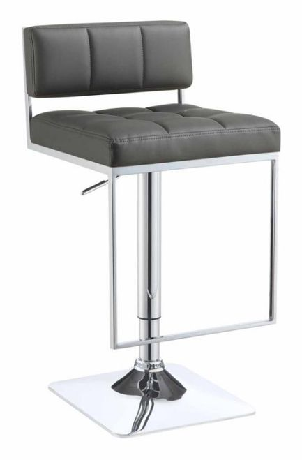 Grey Modern Adjustable Bar Stool 110195