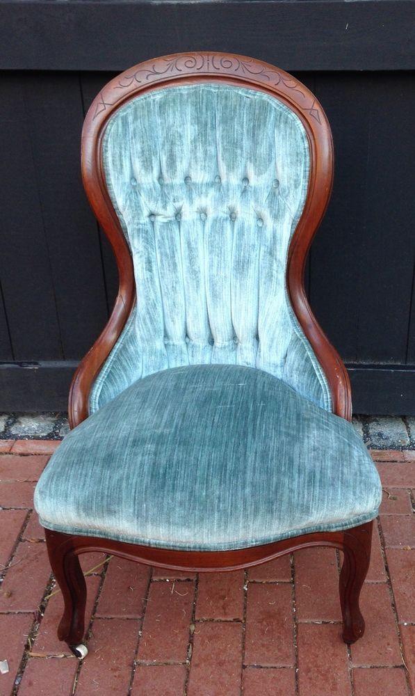 Antique Victorian Tufted Velvet Walnut Ladies Parlor Chair On Wheels - 15 Best Antique Victorian Tufted Velvet Walnut Ladies Parlor Chair