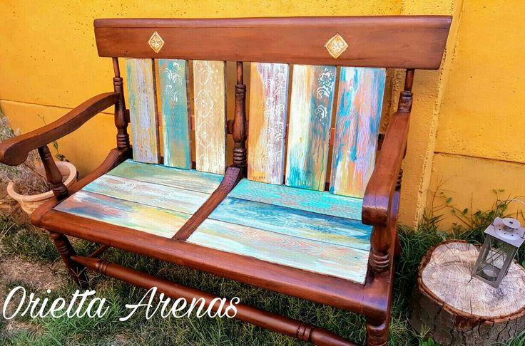 Pátina sobre madera  Chalk Paint #pátina#Chalk#decoración #terrazas#mueblespintados#