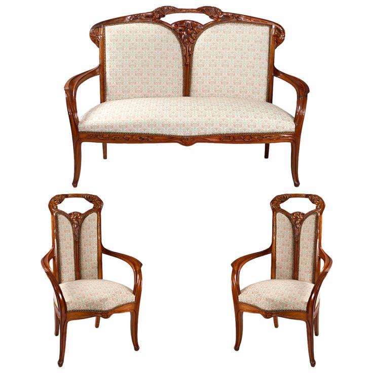 1000 images about art nouveau furniture on pinterest for Art nouveau chaise