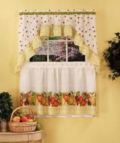 kitchen curtains fruit design. Fruit Medley Kitchen Curtains Swag Set 14 best images on Pinterest  Accent furniture
