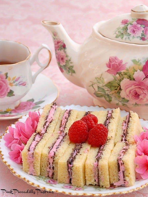 Frivolous Fabulous - Chocolate Raspberry Pound Cake Tea Sandwiches