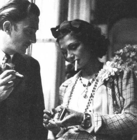 Salvador Dalì with Coco Chanel