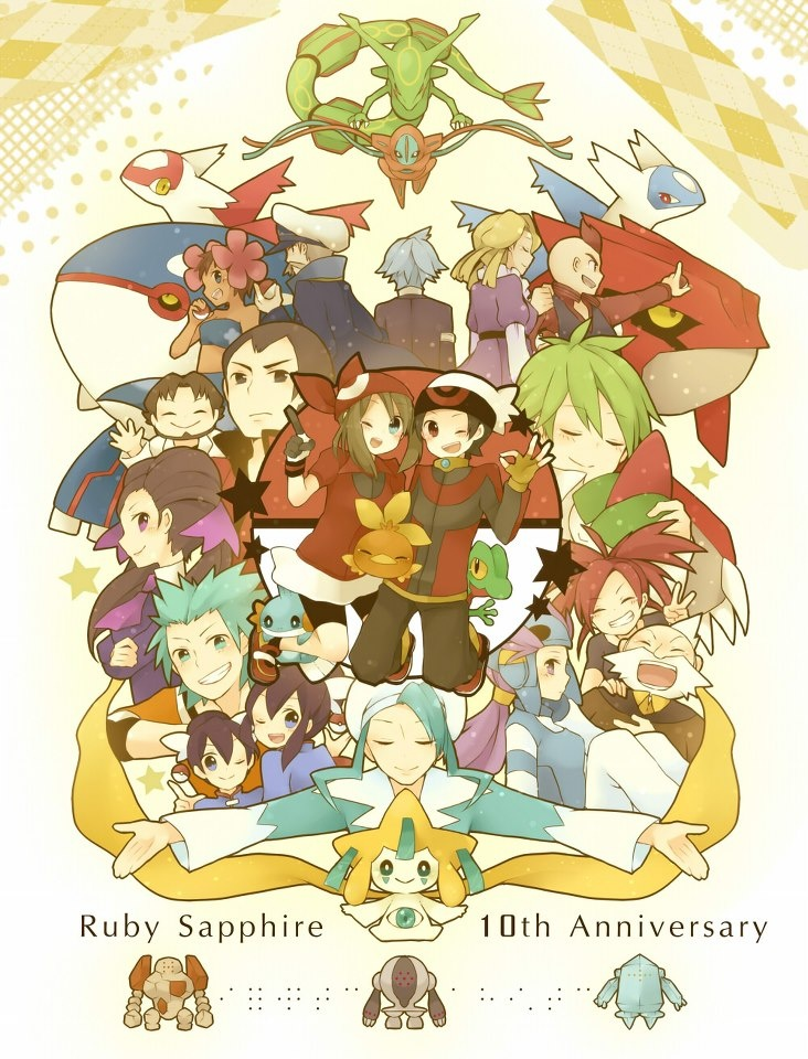 Pokemon Ruby and Sapphire are 10 years old?I feel so old right now     Happy 10th...    THIS IS AMAZING!!!!!!!!!!!!!!