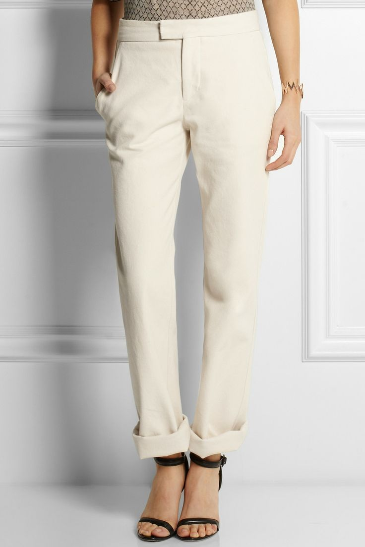 Isabel Marant | Randall cotton boyfriend pants | NET-A-PORTER.