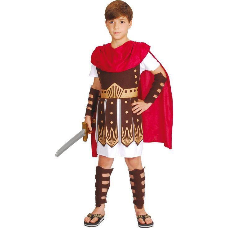 Das Maximus Gladiator Kinderkostüm besteht aus einer weißen Gladiatoren-Tunika mit Kürass (Brust- und Rückenpanzer), rotem Umhang, Armschützern und Beinschützern.Das Maximus Gladiator Kinderkostüm besteht insgesamt aus einer Tunika, Kürass, Umhang, Armschützer und Beinschützer. Nicht mit im Lieferumfang enthalten ist hingegen die abgebildeten Sandalen, sowie das Schwert. Fest steht jedoch, dass das Maximus Gladiator Kostüm das richtige Kostüm ist um auf einer Party aufzufallen. Zudem ist es…