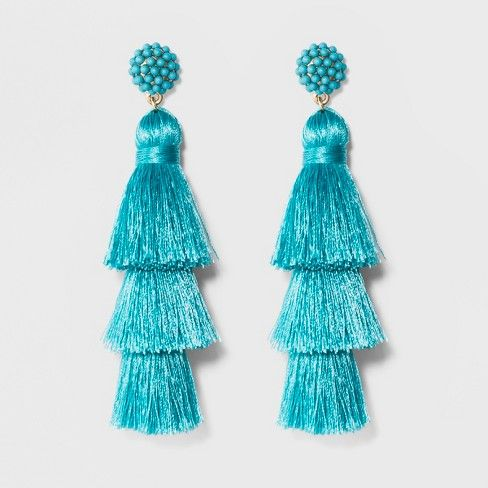SUGARFIX by BaubleBar Tassel Drop Earrings - Black | Jewelry