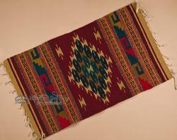 "Southwest Zapotec Indian Rug 23""x39"" (92)"