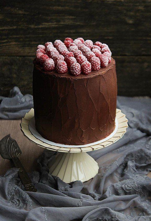 Chocolate-cranberry cake.