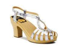 Gypsie Dancing Shoes in silver.