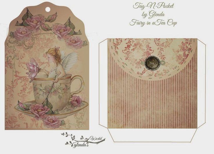 Free Fairy in a Tea Cup Tag-N-Pocket