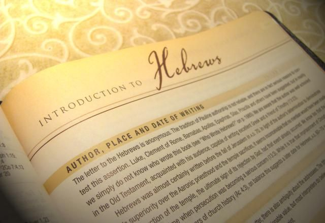 Introduction to the Book of Hebrews