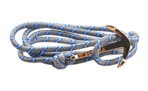 The Art Gray Anchor & Rope Bracelet #rope #bracelet #accessories #menswear  Check out this: http://dappervigilante.com/