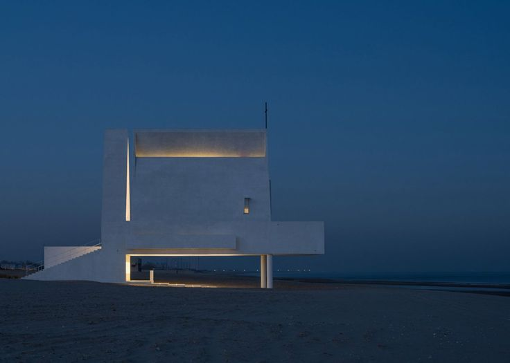 Concrete Beachfront Chapel Appears to Float at High Tide - Curbed