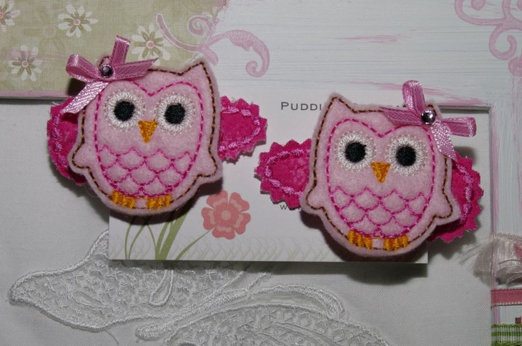 Puddin's Retreat  1 x set of owl clips to the pink  To Enter Repin Each Prize You Would LIke To Win onto your Pinterest Page Then click on this photo x 2 to take you to the Facebook page to enter You Must Be Able To Pick Up Your Prize At Market on 24th March To Enter