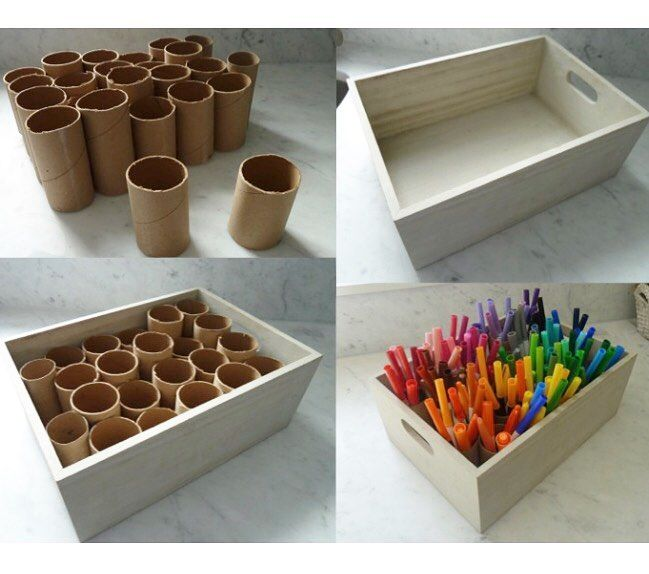 (@love.learning) on Instagram: I love this idea! What a quick and easy way organize markers, crayons, or colored pencils in the classroom or at home!