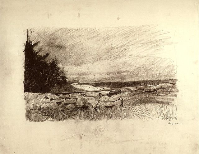 nice pencil drawing the sweep by andrew wyeth 1967