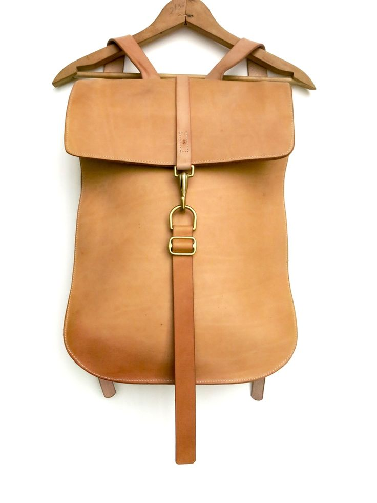 Leather backpack #1 Natural