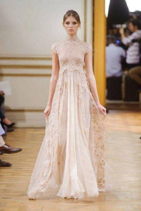 Turtleneck Wedding Dresses For Modest Brides | HappyWedd.com