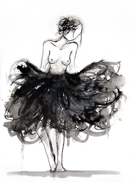 Illustration art, Bella donna ballerina by Jacqueline Tamm