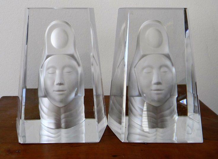 Unique Val Saint Lambert Pair of bookends uAtlantis u Design Bert van Loo Catalogue