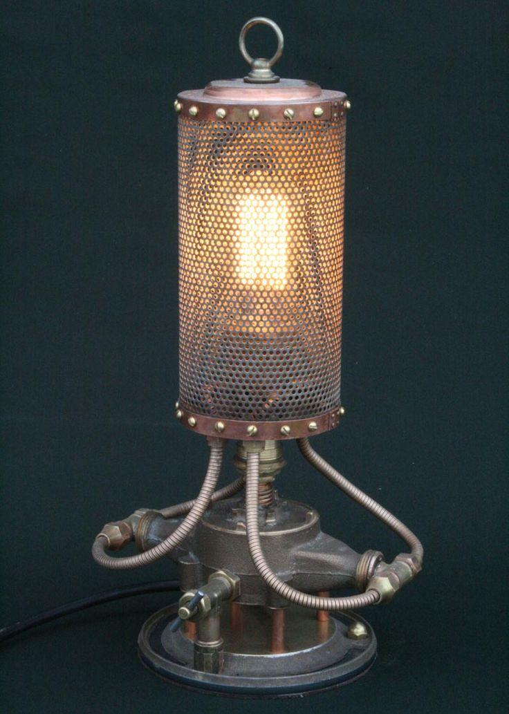 Found Art Steampunk And Steampunk Lamp On Pinterest