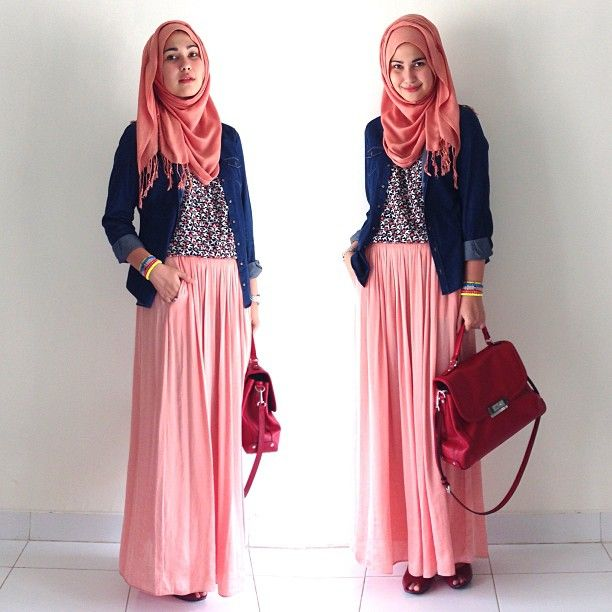 One way to wear peach ❤ hijab style