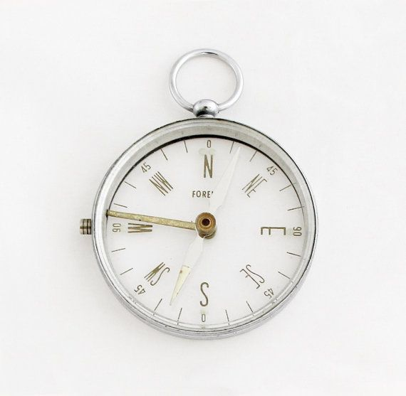 1960s Transparent Pocket Compass / Vintage by TheCompassCollector