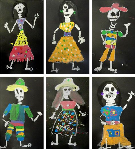 94 best images about art day of the dead lessons on for Day of the dead crafts for preschoolers
