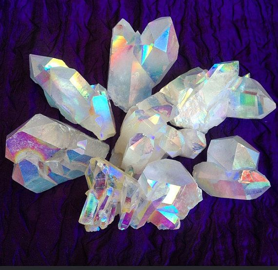 Rainbow Opal Aura Quartz - Energy of the White Ray, Crown Chakra opening and…