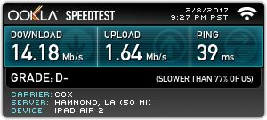 Check out my @Speedtest result! How fast is your internet?
