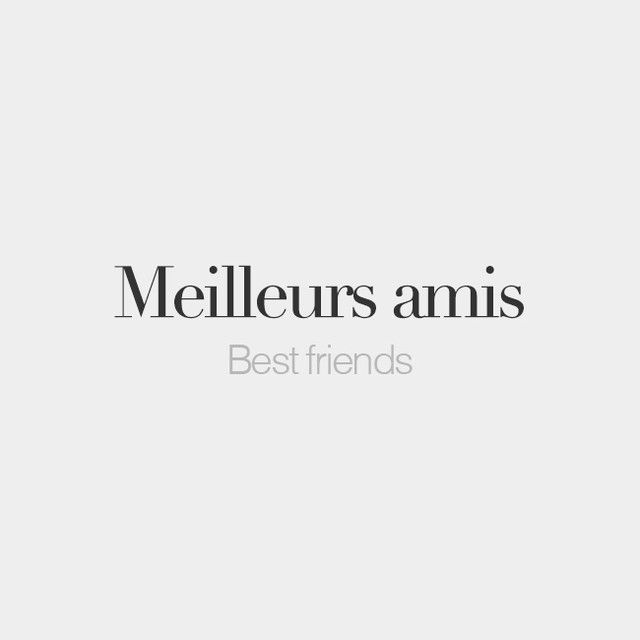 French Words @frenchwords Meilleurs amis (f...Instagram photo | Websta (Webstagram)