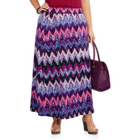 Faded Glory Women's Plus-Size Essential Knit Maxi Skirt