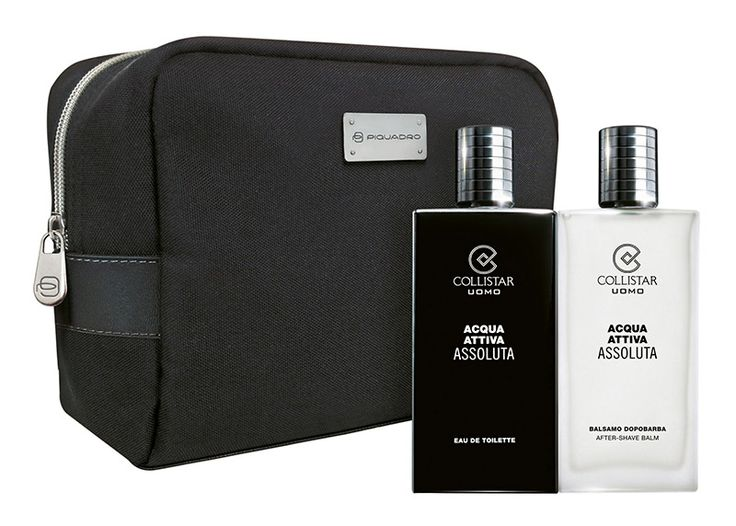 Acqua Attiva Assoluta- Acqua Attiva Assoluta Eau de Toilette 100 ml + Balsamo Dopobarba 100 ml + travel-bag Piquadro