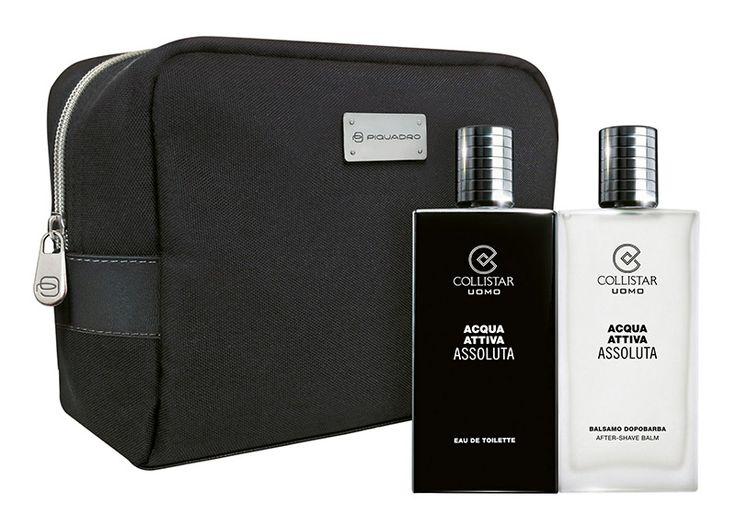 Acqua Attiva Assoluta- Acqua Attiva Assoluta Eau de Toilette 100 ml + Balsamo Dopobarba 100 ml + travel-bag Piquadro