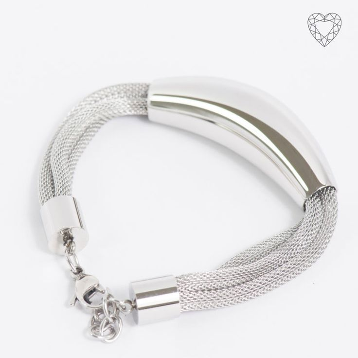 ZS008-B - Triple rounded mesh bracelet with arch pendent