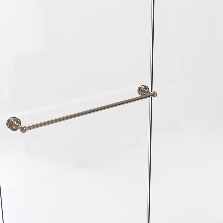 Allied Brass Dottingham Collection 30 in. Shower Door Towel Bar in Antique Pewter