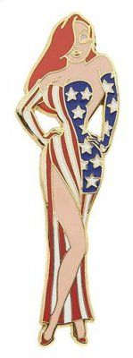 Jessica Rabbit in stars and stripes patriotic dress pin from Fantasies Come True